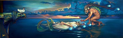 Merman Painting - Pavane For A Dead Princess by Patrick Anthony Pierson