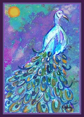 Peacock Painting - Peacock by Paintings by Gretzky