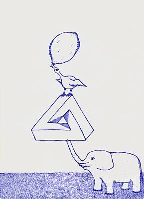 Penrose Elephant Print by Philip G