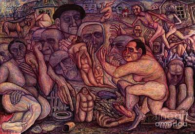 People Of Darkness Print by Vladimir Feoktistov