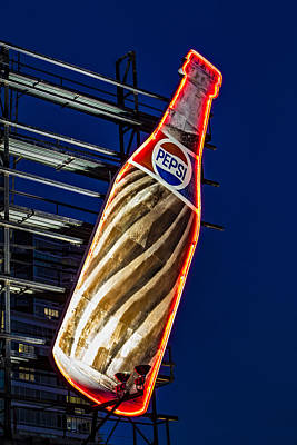 Pepsi Cola Bottle Print by Susan Candelario