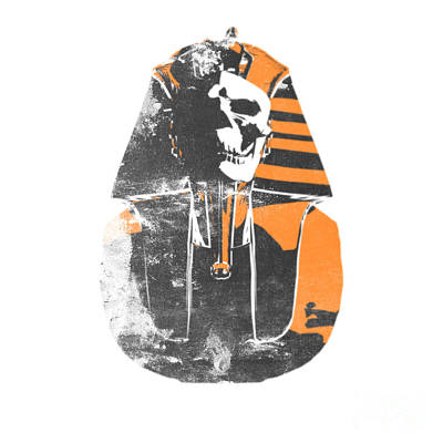 Alien Digital Art - Pharaoh Stencil  by Pixel  Chimp