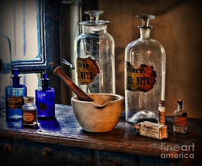 Mortar Photograph - Pharmacist - Mortar And Pestle by Paul Ward