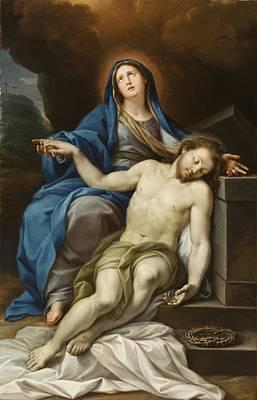 Sepulchre Painting - Pieta by Italian School