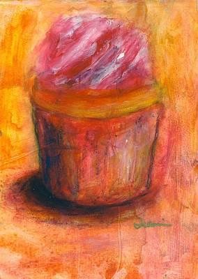 Jeannine Painting - Pink Swirls by Jeannine Luke