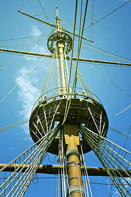 Ships Mast Photograph - Pirate Ship by Joana Kruse