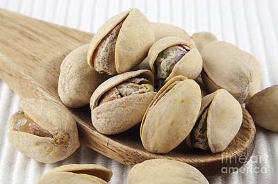 Pistachios On Spoon Print by Blink Images
