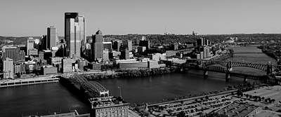 Pittsburgh In Black And White Print by Michelle Joseph-Long