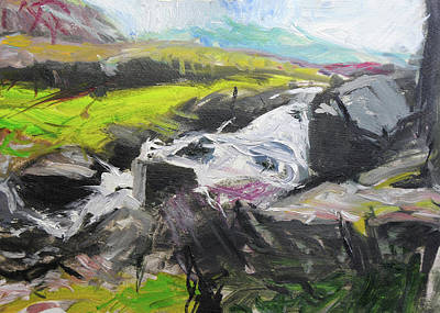 Painting - Plein Air In Snowdonia by Harry Robertson