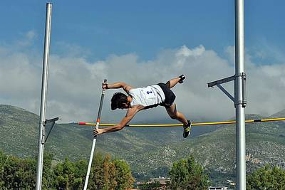 Pole Vault Jumps Original by John Vito Figorito