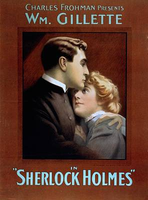 Poster For William Gillette 1853-1937 Print by Everett