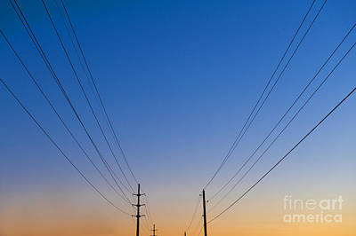 Telephone Poles Photograph - Power Lines by Jacobs Stock Photography