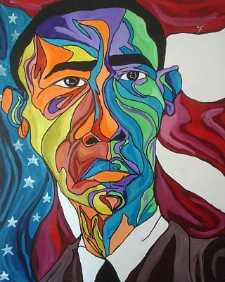 Barack Obama Painting - President Obama by Jason JaFleu Fleurant