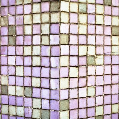 Mosaic Photograph - Purple Tiles by Tom Gowanlock