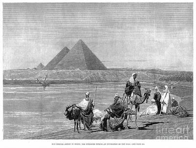 Pyramids At Giza, 1882 Print by Granger