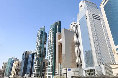 Qatars Financial Front Line Print by Paul Cowan
