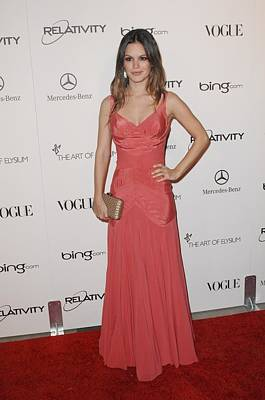 Rachel Bilson Wearing A Zac Posen Dress Print by Everett