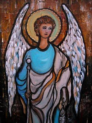 Raphael Archangel Print by Pristine Cartera Turkus