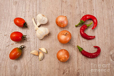 Raw Fresh Spices Print by Sabino Parente