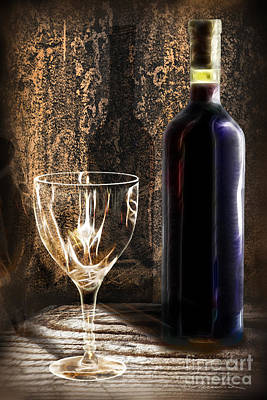 Wine Photograph - Ready To Be Served by Danuta Bennett