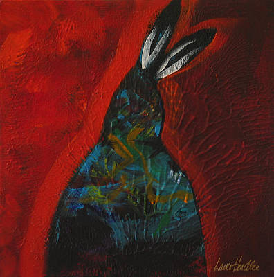 Native Painting - Red Feathers by Lance Headlee