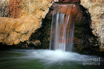 Red Waterfall Print by Carlos Caetano