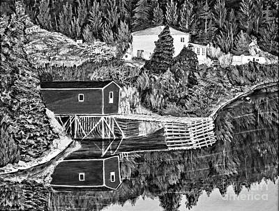 Reflections B W Print by Barbara Griffin