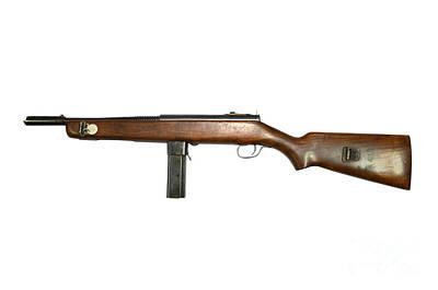 Reising M50 Submachine Gun Print by Andrew Chittock