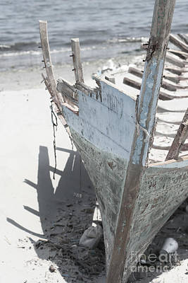 Ribs On The Sand  Print by Kristian Peetz