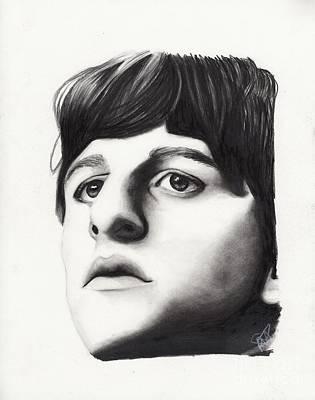 Ringo Drawing - Ringo Starr by Rosalinda Markle
