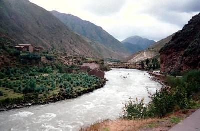 River Urubamba Through The Sacred Valley Of The Incas Print by Ronald Osborne