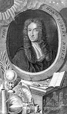 Robert Boyle, British Chemist Print by Science Source