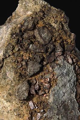 Fused Photograph - Rock From Meteorite Impact Crater by Detlev Van Ravenswaay