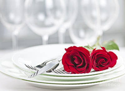 Tableware Photograph - Romantic Dinner Setting by Elena Elisseeva