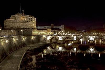 Rome Ponte San Angelo Print by Joana Kruse