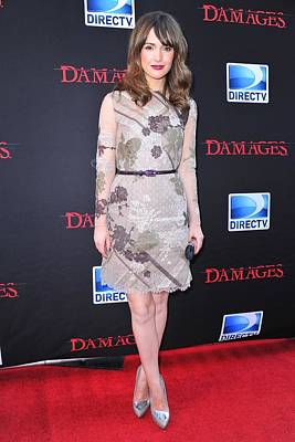 Belted Dress Photograph - Rose Byrne Wearing A Valentino Dress by Everett