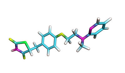 Rosiglitazone Diabetes Drug Molecule Print by Dr Tim Evans