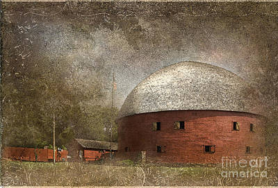 Route 66 Round Barn Print by Betty LaRue