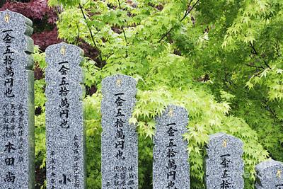 Miyajima Photograph - Row Of Spiritual Statuary by Jeremy Woodhouse