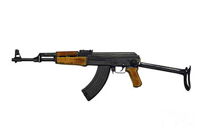 Russian Ak-47 Assault Rifle Print by Andrew Chittock