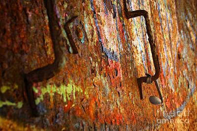 Rust Background Print by Carlos Caetano