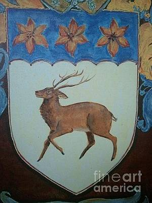 Family Painting - Rutland Coat Of Arms by Nancy Rutland