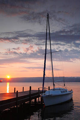 Sailboat And Lake II Print by Steven Ainsworth