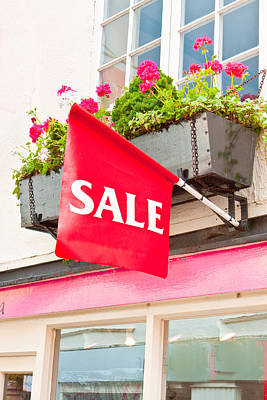 Window Signs Photograph - Sale Sign by Tom Gowanlock