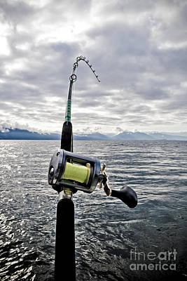 Salmon Fishing Rod Print by Darcy Michaelchuk