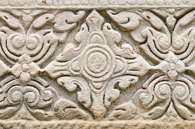 Sandstone Carving  Print by Kanoksak Detboon