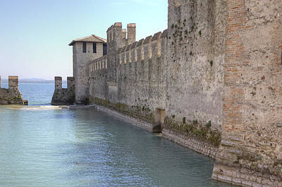 Castle Photograph - Scaliger Castle Wall Of Sirmione In Lake Garda by Joana Kruse