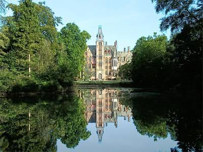 Schloss Loppem Loppem Belgium Print by Joseph Hendrix