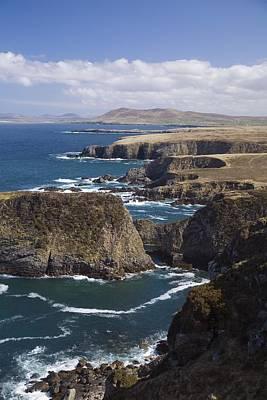 Sea Cliffs And Coastline Near Erris Print by Gareth McCormack