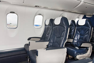 Airline Industry Photograph - Seats On An Airliner by Jaak Nilson
